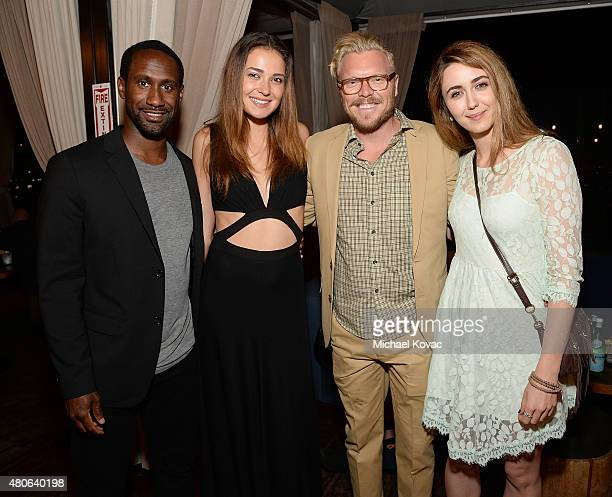 Rodney Marshall Kristina Pechulis producer James Dahl and actress Madeline Zima attend the afterparty for the Los Angeles premiere of A24's The End...