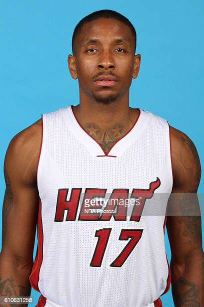 Rodney McGruder of the Miami Heat poses for a head shot during the 20162017 Miami Heat Media Day on September 26 2016 at American Airlines Arena in...