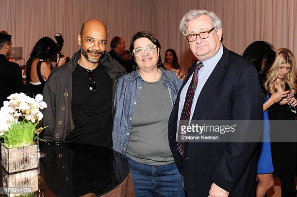 Rodney McMillian Cathy Opie and Steven Lavine CalArts Art Benefit And Auction Los Angeles Opening Reception At Regen Projects on February 25 2014 in...