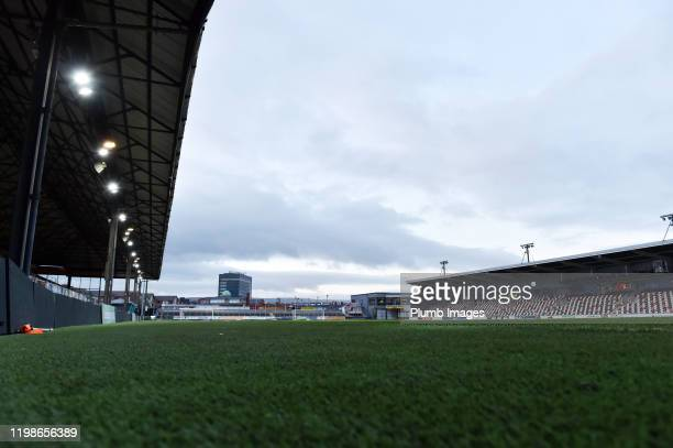 Rodney Parade ahead of the Leasingcom quarter final match between Newport County and Leicester City U21 at Rodney Parade on February 04 2020 in...