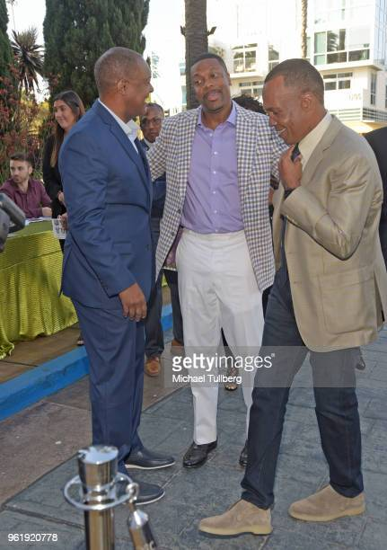 Rodney Peete Chris Tucker and Sugar Ray Leonard attend the 9th Annual Big Fighters Big Cause Charity Boxing Night Benefiting The Sugar Ray Leonard...