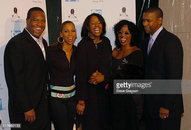 Rodney Peete, Holly Robinson-Peete, Leah Wilcox, Pauletta Washington and Denzel Washington