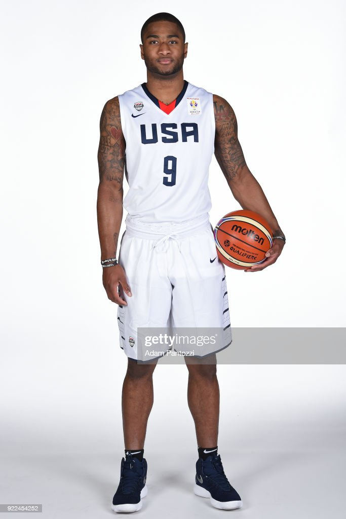 Rodney Purvis #9 of Team USA poses for a portrait on February 20, 2018 at the LA Clippers Training Center in Playa Vista, California.