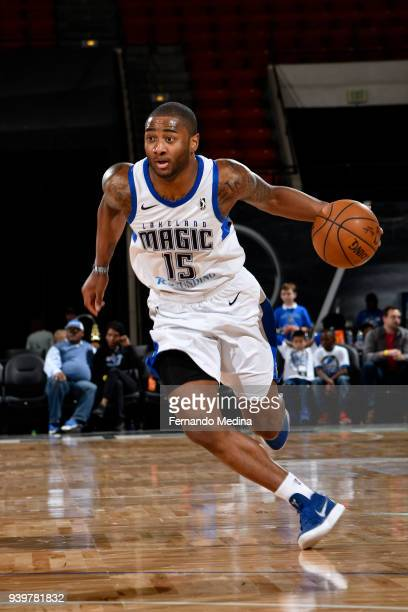 Rodney Purvis of the Lakeland Magic drives to the basket against the Delaware 87ers on March 23, 2018 at RP Funding Center in Lakeland, Florida. NOTE...