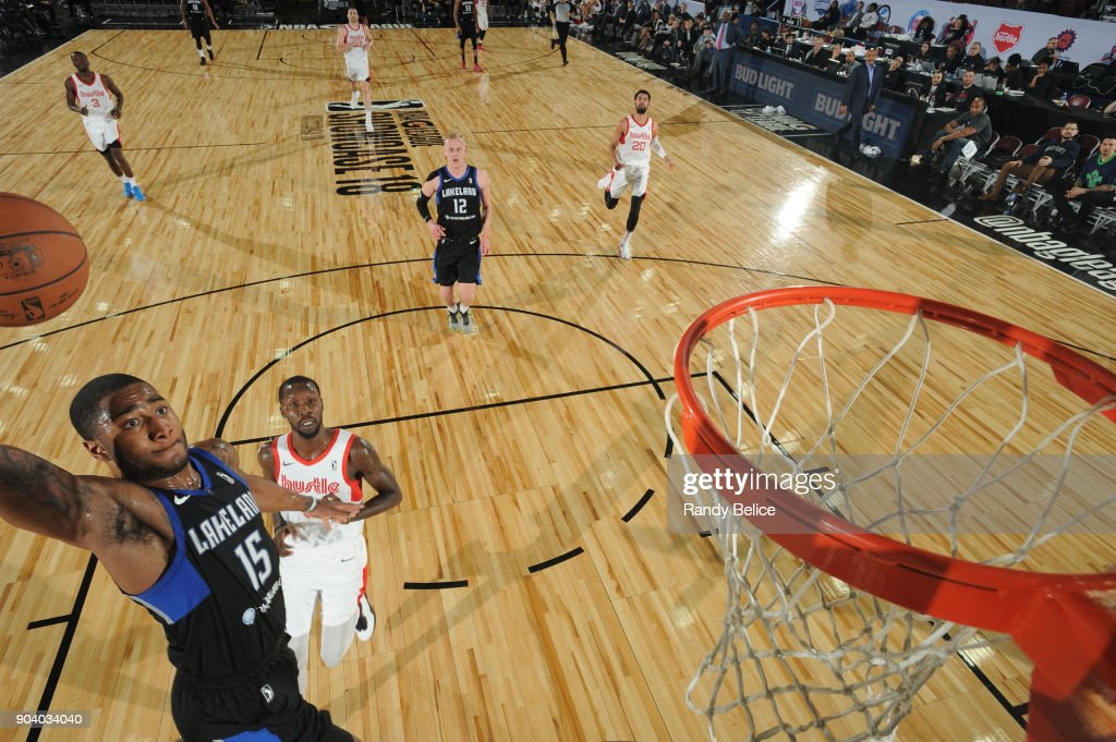 Rodney Purvis #15 of the Lakeland Magic dunks the ball during the game against the Memphis Hustle at the NBA G League Showcase Game 14 on January 11, 2018 at the Hershey Centre in Mississauga, Ontario Canada.