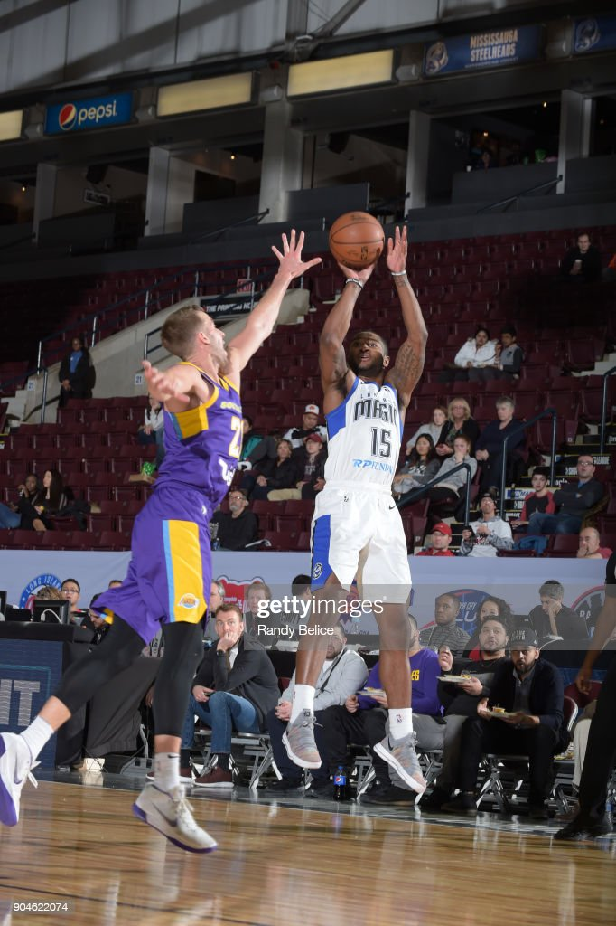 Rodney Purvis #15 of the Lakeland Magic shoots the ball during the NBA G-League Showcase Game 24 between the South Bay Lakers and the Lakeland Magic on January 13, 2018 at the Hershey Centre in Mississauga, Ontario Canada.