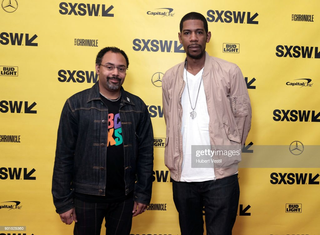 Rodney Sampson (L) and Young Guru attend Music Tech: A Gateway to Awaken America's Youth with Young Guru during SXSW at Austin Convention Center on March 13, 2018 in Austin, Texas.