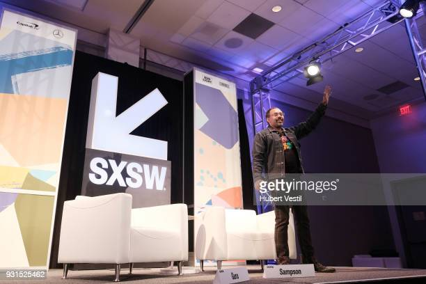 Rodney Sampson speaks onstage at Music Tech A Gateway to Awaken America's Youth with Young Guru during SXSW at Austin Convention Center on March 13...