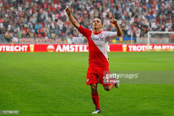 Rodney Sneijder of FC Utrecht celebrates during the Eredivisie match between FC Utrecht and RKC Waalwijk at the Galgenwaard stadium on October 1 2011...