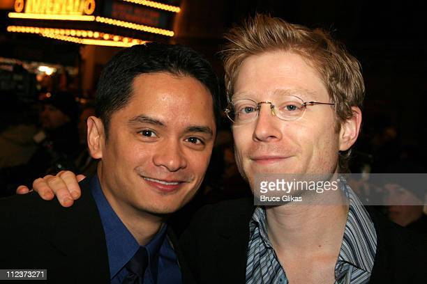 Rodney To and Anthony Rapp during 'Chita Rivera The Dancer's Life' Broadway Opening Night Arrivals at The Gerald Schoenfeld Theatre in New York City...