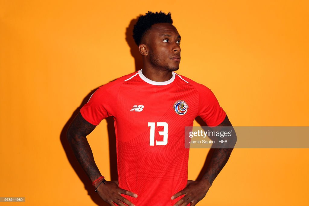 Rodney Wallace #13 of Costa Rica poses during the official FIFA World Cup 2018 portrait session at on June 13, 2018 in Saint Petersburg, Russia.