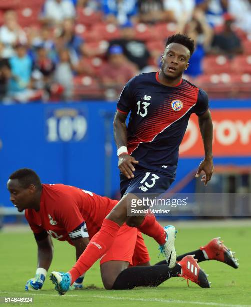 Rodney Wallace of Costa Rica scores a goal against Donovan Leon of French Guiana during the 2017 CONCACAF Gold Cup at Toyota Stadium on July 14 2017...