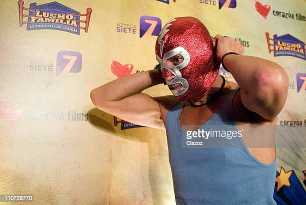 Rodolfo Arias attends to the presentation of the tv serie Lucho en Familia at the Camino Real Hotel on March 23 2011 in Tlalnepantla Mexico