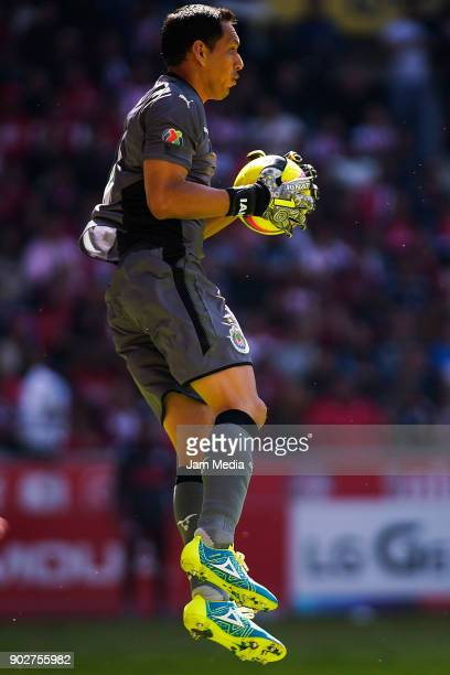 Rodolfo Cota goalkeeper of Chivas catches the ball during the first round match between Toluca and Chivas as part of the Torneo Clausura 2018 Liga MX...