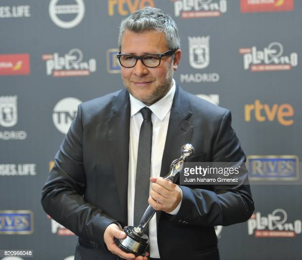 Rodolfo Cova attends the 'Platino Awards 2017' winners photocall at La Caja Magica on July 22 2017 in Madrid Spain He receives the 'Best Opera Prima'...
