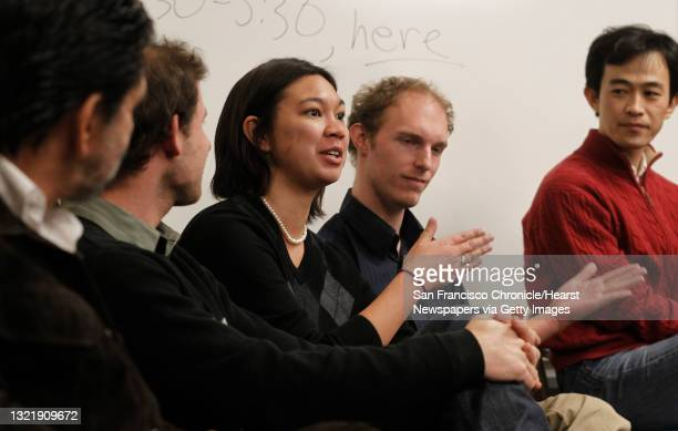 Rodolfo Dirzo, Daniel Karp, Holly Moeller, Luke Frishkoff and Tadashi Fukami, students and professors, members of Occupy the Future, hold weekly...
