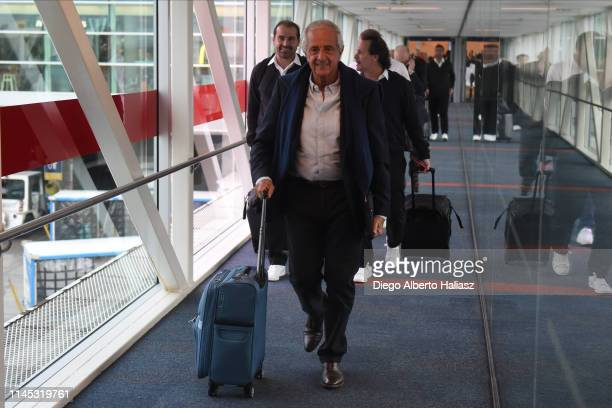 Rodolfo D'Onofrio President of River Plate arrives to Brazil May 20 2019 in Curitiba Brazil River Plate will face Atletico Paranaense as part of...