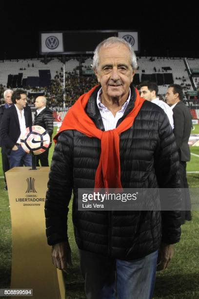 Rodolfo DOnofrio President of River Plate poses prior a first leg match between Guarani and River Plate as part of round of 16 of Copa CONMEBOL...