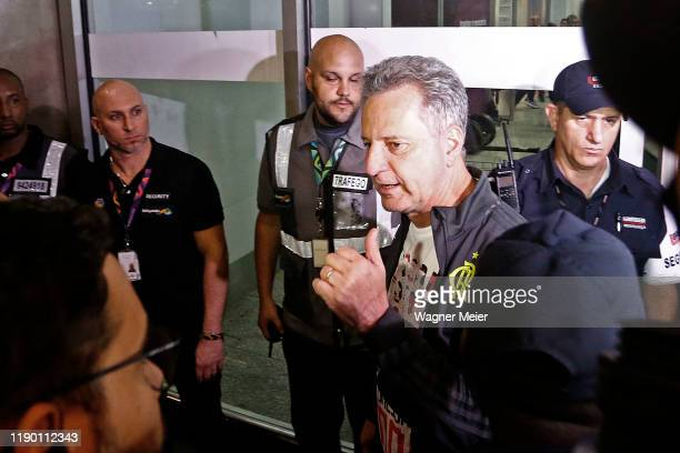 Rodolfo Landim President of Flamengo team arrives in Rio after playing the FIFA Club World Cup Qatar 2019 Final Against Liverpool on December 22 2019...