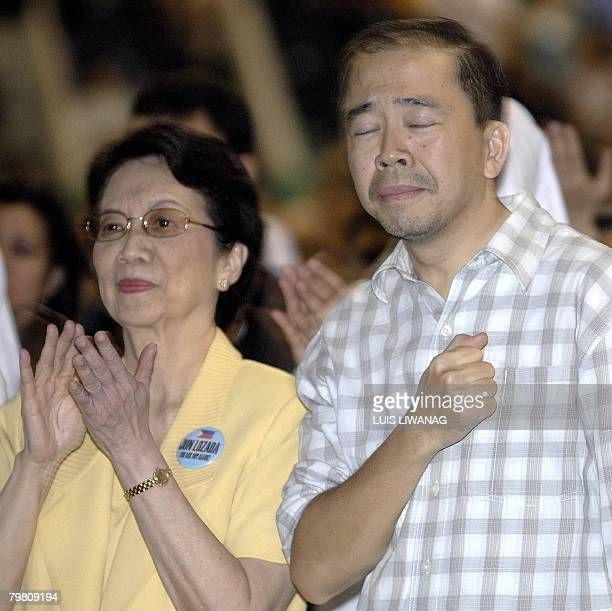 Rodolfo Lozada a former government official whose testimony in a corruption probe has triggered political scandal in the Philippines hits his chest...