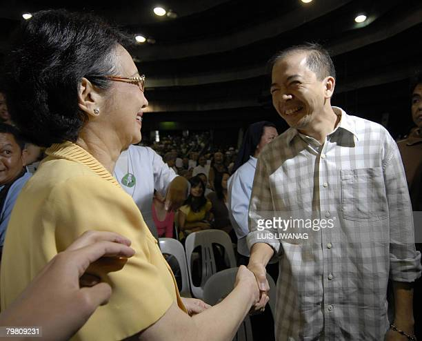 Rodolfo Lozada a former government official whose testimony in a corruption probe has triggered political scandal in the Philippines greets former...