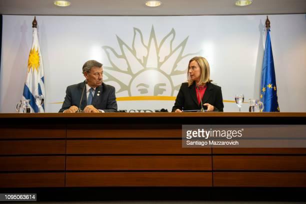 Rodolfo Nin Novoa Minister of Foreign Affairs of Uruguay and Federica Mogherini High Representative of the European Union for Foreign Affairs and...