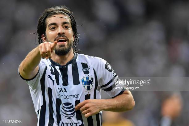 Rodolfo Pizarro #20 of Monterrey celebrates after scoring his team's first goal during the quarterfinals second leg match between Monterrey and...