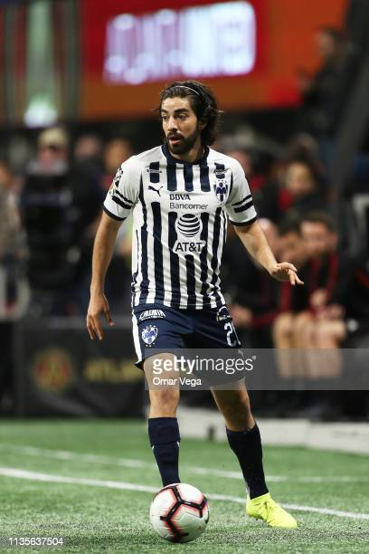 Rodolfo Pizarro of CF Monterrey controls the ball during the match between Atlanta United and Monterrey as part of the CONCACAF Champions League 2019...