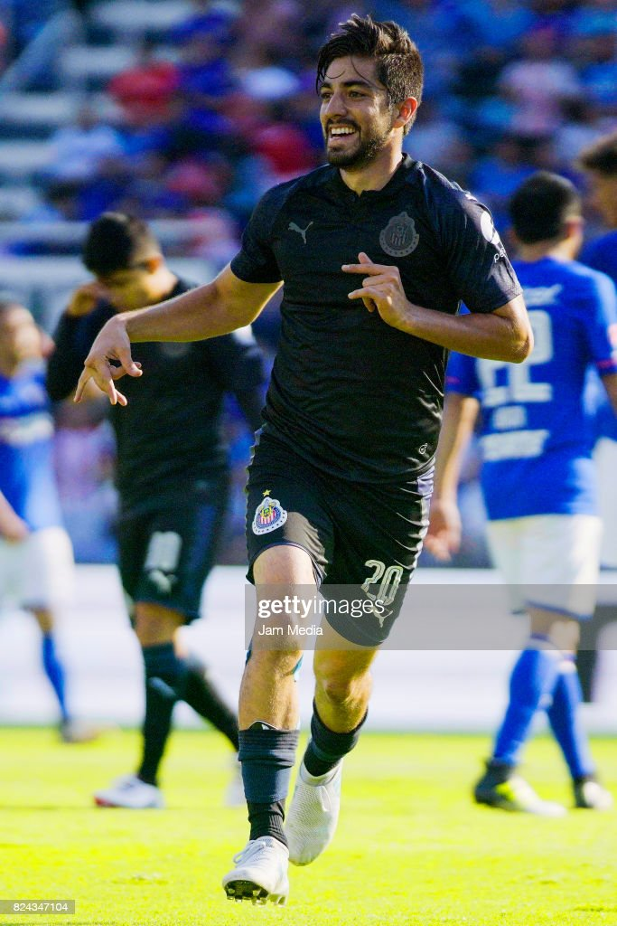 Rodolfo Pizarro of Chivas celebrates after scoring the tying goal during  the 2nd round match between 85e776bee883b