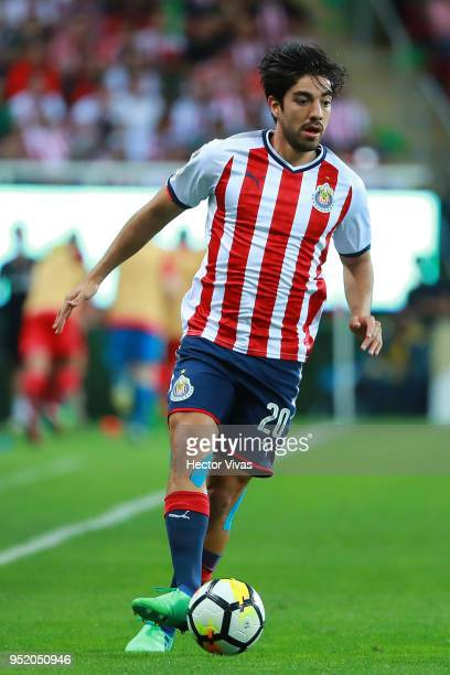 Rodolfo Pizarro of Chivas drives the ball during the second leg match of the final between Chivas and Toronto FC as part of CONCACAF Champions League...