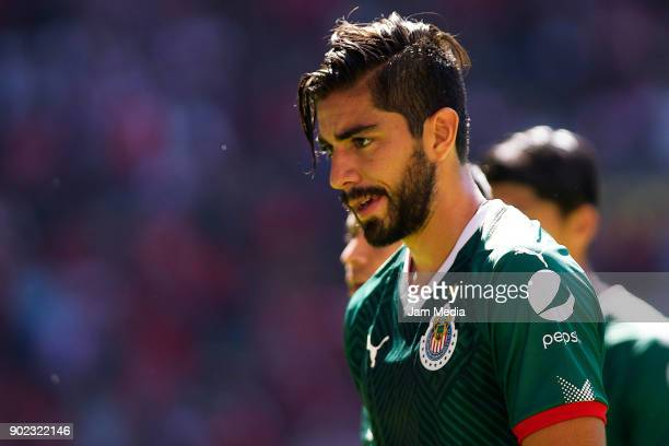 Rodolfo Pizarro of Chivas looks on during the first round match between Toluca and Chivas as part of the Torneo Clausura 2018 Liga MX at Nemesio Diez...