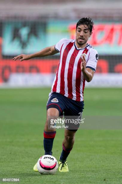 Rodolfo Pizarro of Chivas runs after the ball during the 11th round match between Chivas and Lobos BUAP as part of the Torneo Apertura 2017 Liga MX...
