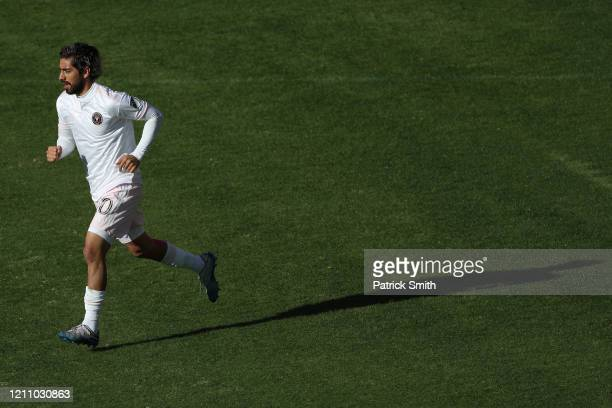 Rodolfo Pizarro of Inter Miami celebrates his goal against the DC United during the first half at Audi Field on March 7 2020 in Washington DC