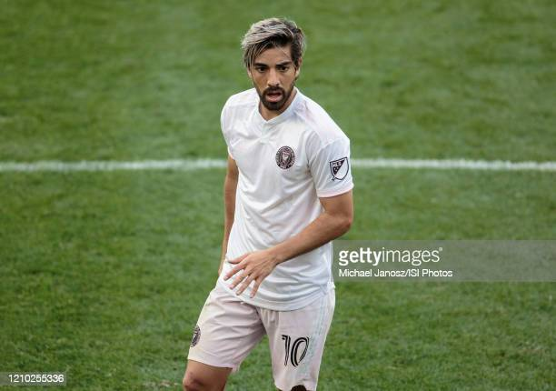 Rodolfo Pizarro of Inter Miami CF during a game between Inter Miami CF and Los Angeles FC at Banc of California Stadium on March 01, 2020 in Los...