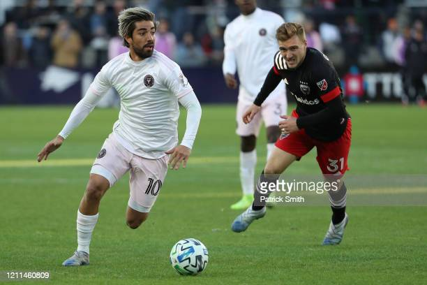Rodolfo Pizarro of Inter Miami in action against the D.C. United during the second half at Audi Field on March 7, 2020 in Washington, DC.