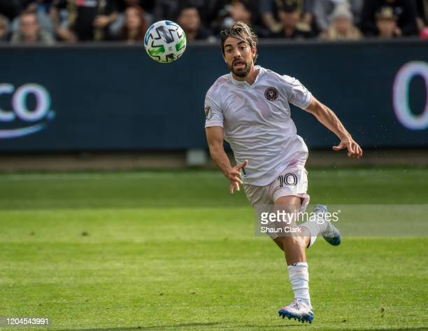 Rodolfo Pizarro of Inter Miami in action during the MLS match against Los Angeles FC at the Banc of California Stadium on March 1 2020 in Los Angeles...