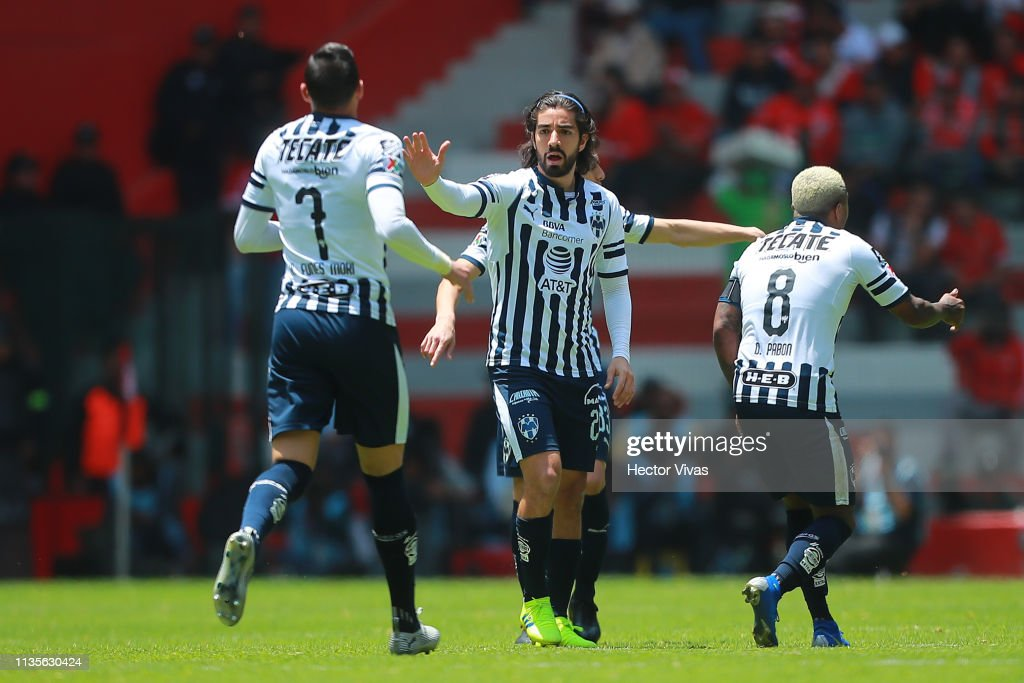 376feb1e15e Rodolfo Pizarro of Monterrey celebrates after scoring the first goal ...