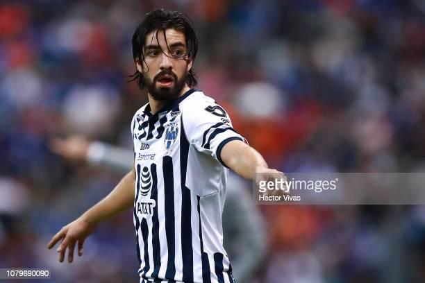 Rodolfo Pizarro of Monterrey gestures during the semifinal second leg match between Cruz Azul and Monterrey as part of the Torneo Apertura 2018 Liga...