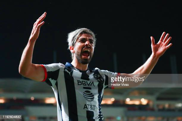 Rodolfo Pizarro of Monterrey gestures during the Semifinals second leg match between Necaxa and Monterrey as part of the Torneo Apertura 2019 Liga MX...
