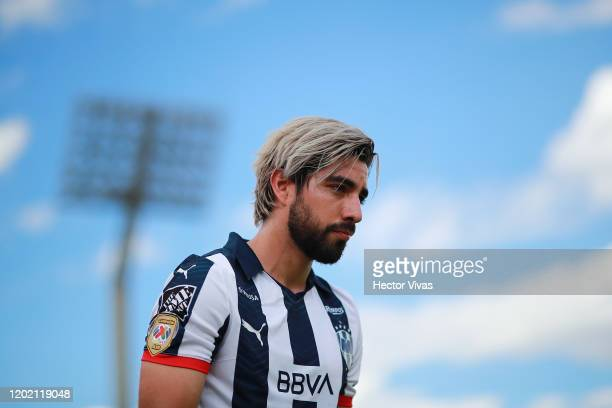 Rodolfo Pizarro of Monterrey looks on during the 3rd round match between Pumas UNAM and Monterrey as part of the Torneo Clausura 2020 Liga MX at...