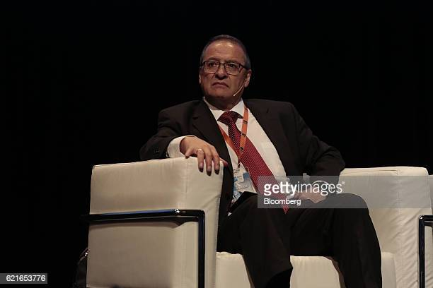 Rodolfo Rudy Araujo secretary general for the Association of Bank Supervisors of the Americas listens during a panel discussion at the 50th...