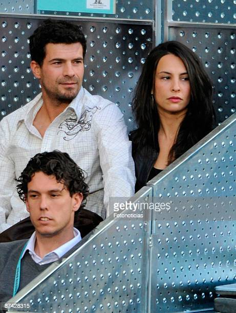 Rodolfo Sancho and Xenia Tostado attend Madrid Open tennis tournament at La Caja Magica on May 15 2009 in Madrid Spain