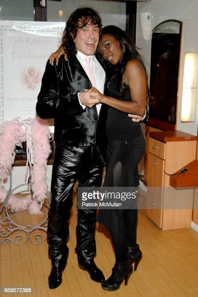 "Rodolfo Valentin and Anne-Marie King attend Sofia's ""Hair for Health"" Annual Party at the Rodolfo Valentin Salon and Spa on October 11, 2009 in New..."