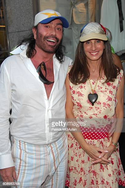 Rodolfo Valentin and Denise Wohl attend WINDTOSS debut by DENISE WOHL at Parker NYC on May 21 2007 in New York City