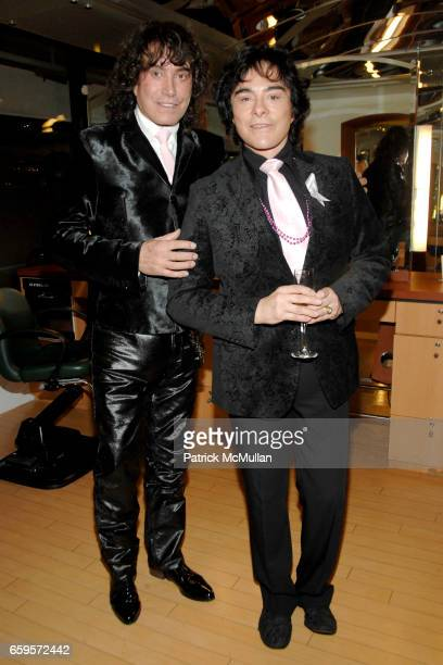 "Rodolfo Valentin and George Perez attend Sofia's ""Hair for Health"" Annual Party at the Rodolfo Valentin Salon and Spa on October 11, 2009 in New York..."