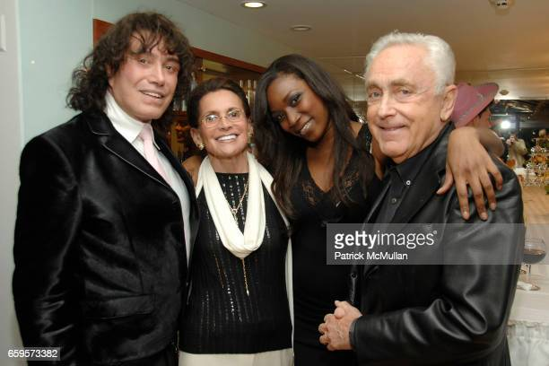 "Rodolfo Valentine, Maxine Reiss, Anne-Marie King and Earl Reiss attend Sofia's ""Hair for Health"" Annual Party at the Rodolfo Valentin Salon and Spa..."