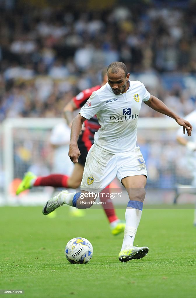 Rodolph Austin of Leeds United during Sky Bet Championship match between Leeds United and Huddersfield Town at Elland Road Stadium on September 20, 2014 in Leeds, United Kingdom.
