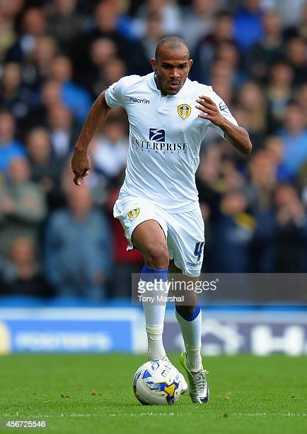 Rodolph Austin of Leeds United during the Sky Bet Championship match between Leeds United and Sheffield Wednesday at Elland Road on October 4 2014 in...