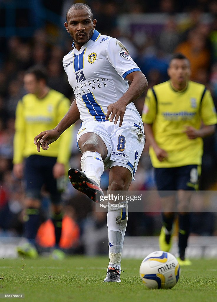 Rodolph Austin of Leeds United during their Sky Bet Championship match between Leeds United and Birmingham City at Elland Road Stadium on October 20, 2013 in Leeds, England.