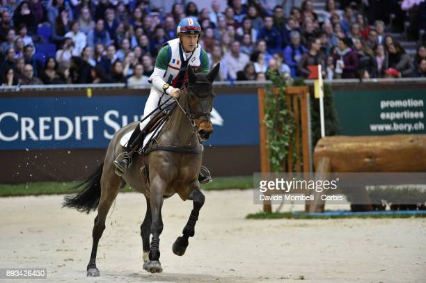 Rodolphe SCHERER of France riding Coeur de Crack during the Cross Indoor sponsored by Tribune de Genève Rolex Grand Slam Geneva 2017